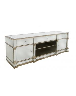 Champagne Apollo Mirror Entertainment Unit-Living Room-Furniture Walk UK
