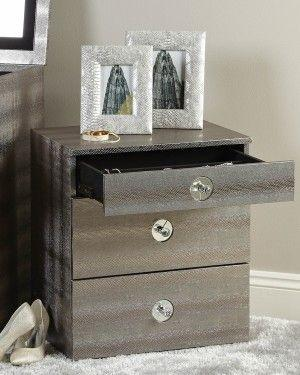 Pewter Faux Snakeskin Jewellery Box-Accents & Lighting-Furniture Walk UK