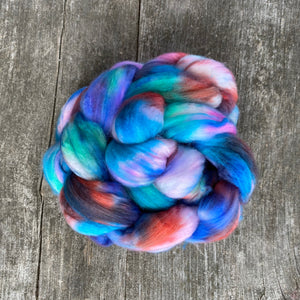 Rainbow Fish - Hand Dyed Roving - Pre order