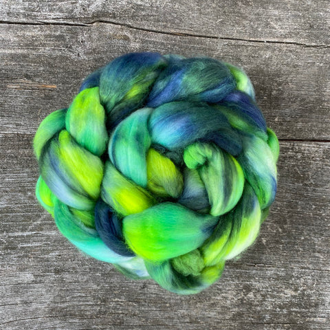 Lime Light - Hand Dyed Roving - Pre order