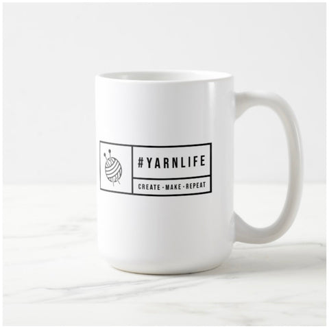 #YARNLIFE coffee mug - 15oz.
