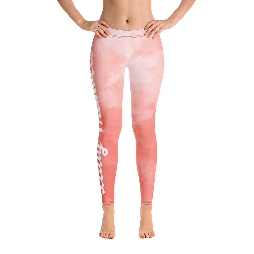 "LM ""Peach Clouds"" Leggings"