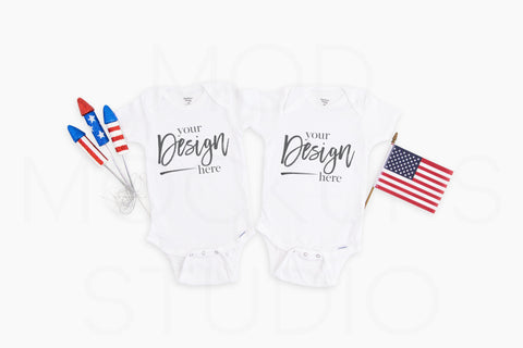 Family Mockup 4400 Rabbit Skins Mockup Bodysuit  |  WHITE