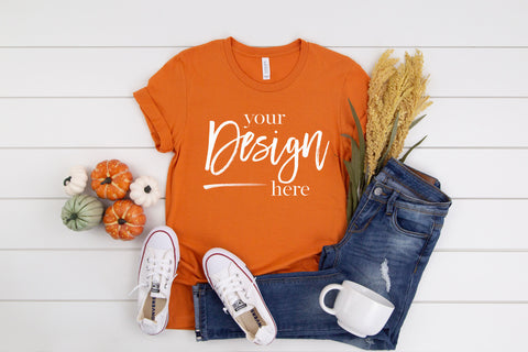 Image of 3001 Bella Canvas Mockup Tshirt  |  BURNT ORANGE