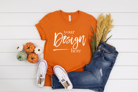 3001 Bella Canvas Mockup Tshirt  |  BURNT ORANGE