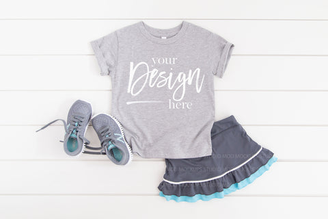 Image of 3001T Bella Canvas Mockup Kids Tshirt  |  ATHLETIC HEATHER