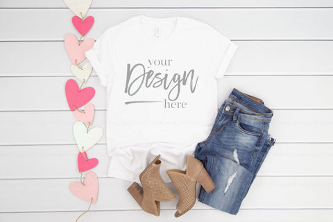3001 Bella Canva Mockup Shirt  |  WHITE