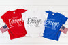 5000B Gildan Mockup Kids Tshirt  |  RED, WHITE & ROYAL BLUE