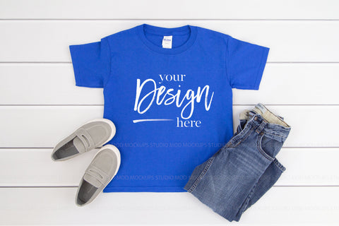 Image of 5000B Gildan Mockup Kids Tshirt  |  ROYAL
