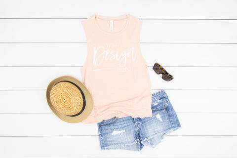 8803 Bella Canvas Tank Mockup  |  PEACH