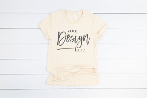Image of 3001 Bella Canvas Mockup Tshirt | SOFT CREAM