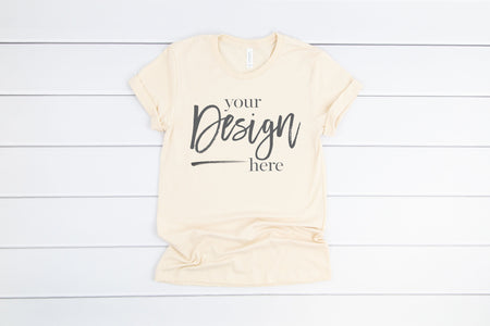 3001 Bella Canvas Mockup Tshirt | SOFT CREAM
