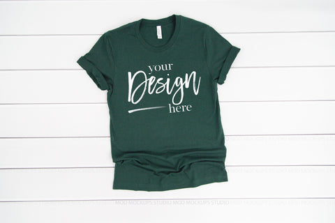 Image of 3001 Bella Canvas Mockup Tshirt |  FOREST GREEN
