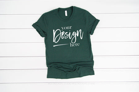 3001 Bella Canvas Mockup Tshirt |  FOREST GREEN