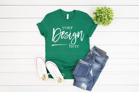 3001 Bella Canvas Mockup Tshirt | EVERGREEN