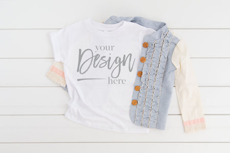 3001T Bella Canvas Mockup Kids Tshirt  |  WHITE