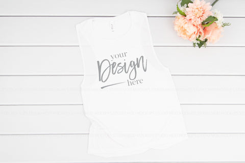 Image of 8803 Bella Canvas Tank Mockup  |  WHITE