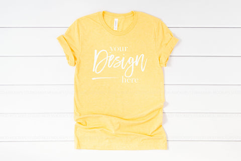 Image of 3001 Bella Canvas Mockup Tshirt | HEATHER YELLOW