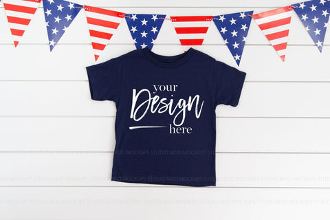 Image of 3001T Bella Canvas Mockup Kids Tshirt  |  NAVY