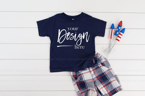 3001T Bella Canvas Mockup Kids Tshirt  |  NAVY