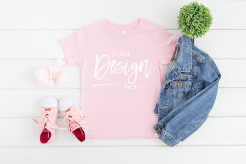 3001T Bella Canvas Mockup Kid Tshirt  |  PINK