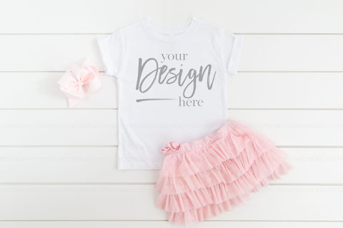 Image of 3001T Bella Canvas Mockup Kids Tshirt  |  WHITE