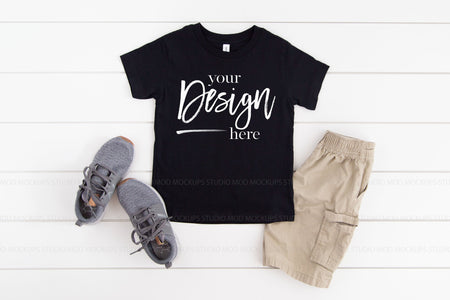 3001T Bella Canvas Mockup Kids Tshirt  |  BLACK