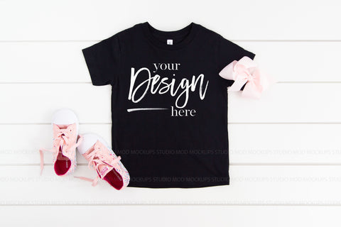 Image of 3001T Bella Canvas Mockup Kids Tshirt  |  BLACK