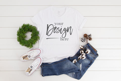 Image of 3001 Bella Canvas Mockup Tshirt | WHITE