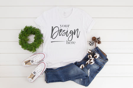 3001 Bella Canvas Mockup Tshirt | WHITE