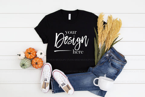 3001 Bella Canvas Mockup Tshirt | BLACK