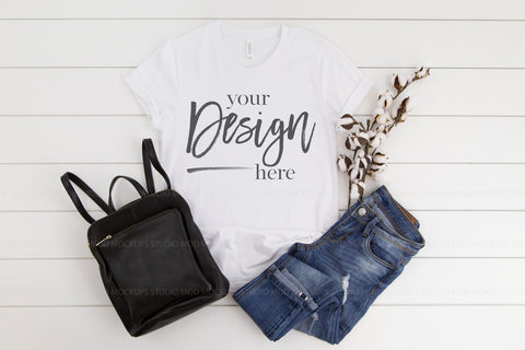 Image of 3001 Bella Canvas Mockup T-shirt   | WHITE