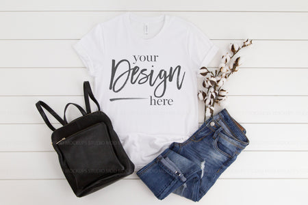 3001 Bella Canvas Mockup T-shirt   | WHITE