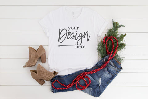 Image of 3001 Bella Canva Mockup Shirt  |  WHITE