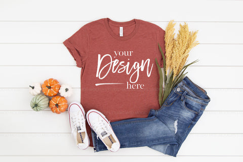 Image of 3413 Bella Canvas Mockup Tshirt  |  CLAY TRIBLEND