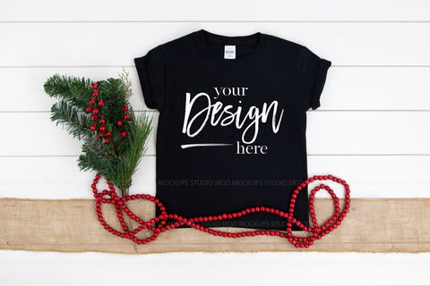 Image of 5000B Gildan Mockup Kids Tshirt  |  BLACK