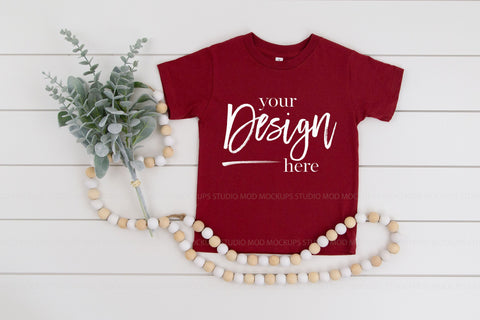 Image of 3001T Bella Canvas Mockup Kids Tshirt  |  CARDINAL