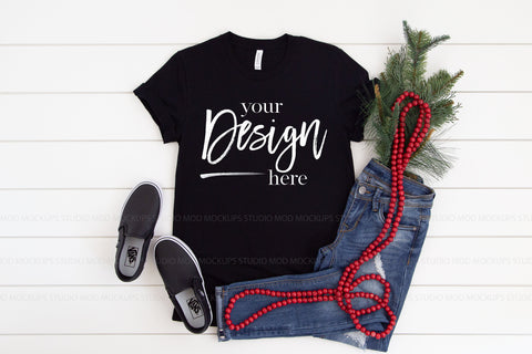 Image of 3001 Bella Canvas Mockup T-shirt  |  BLACK