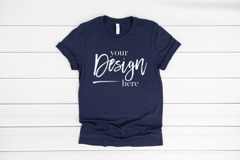 Image of 3001 Bella Canvas Mockup Tshirt | NAVY