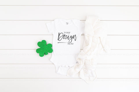 Image of Gerber Onesies® Bodysuit  |  WHITE