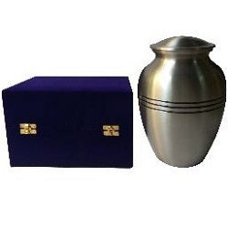Classic Pewter Urn 8 Inch
