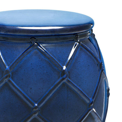 BLUE SIDE TABLE | EICHHOLTZ DRUM ROPE