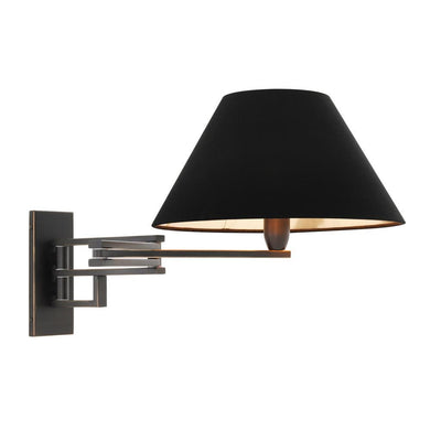 BLACK WALL LAMP | EICHHOLTZ LUTETIA