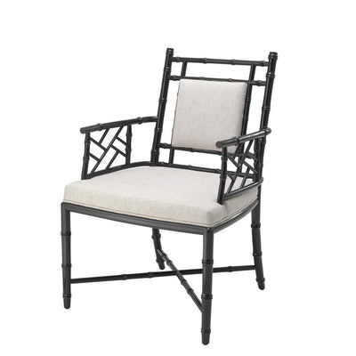 BLACK ARM CHAIR | EICHHOLTZ GERMAINE