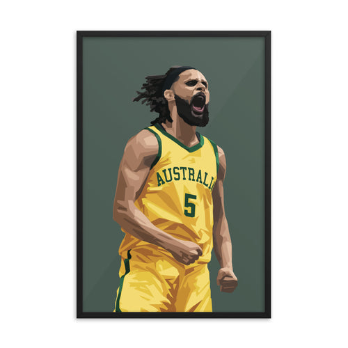 Patty Mills - Framed Artwork