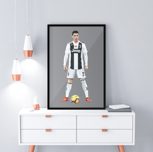 Load image into Gallery viewer, Cristiano Ronaldo - Framed Artwork