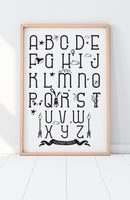 ABC Scandinavian Print / nursery decor
