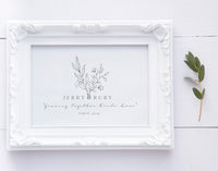 Growing together, botanical print, couples print