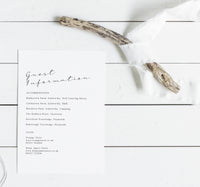 'The Knights' Simplistic, modern, wedding stationery - Invitations