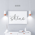 Rise and Shine - Home decor - Nursery decor - modern prints